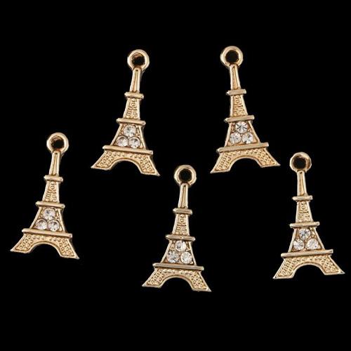 3752245 Декор для творчества стразы 'Эйфелева башня' 2,2*1,3 см упак/5шт