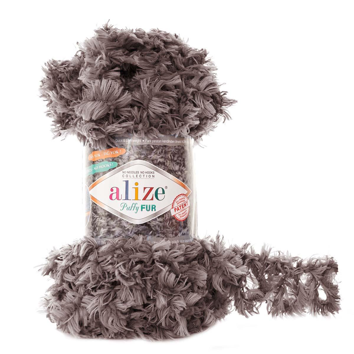 Пряжа Alize 'Puffy Fur' 100гр. 6м. (100% полиэстер)