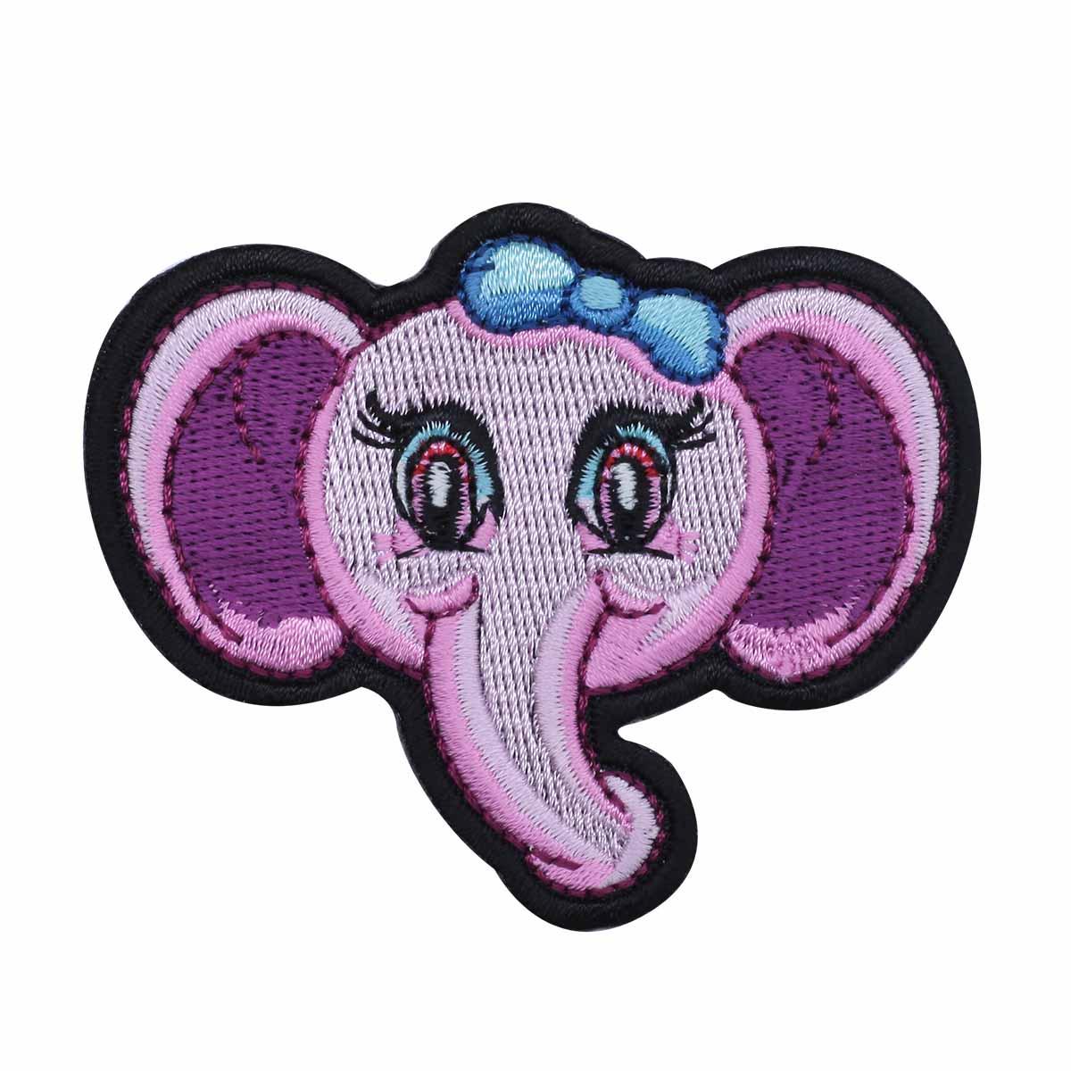 Термоаппликация 'Розовый слоник' 5*7см Hobby&Pro