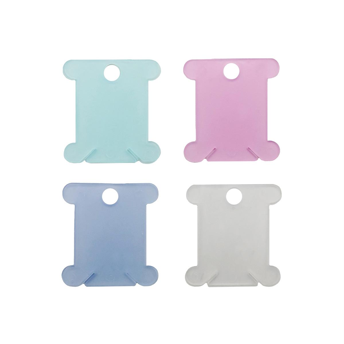 Шпульки для наматывания мулине разноцветные пласт. 20шт. 892001, Hobby&Pro