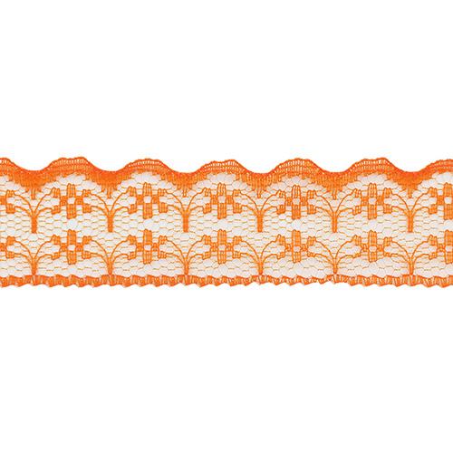 05-38009/22 Кружево нейлон 22мм*25м оранж