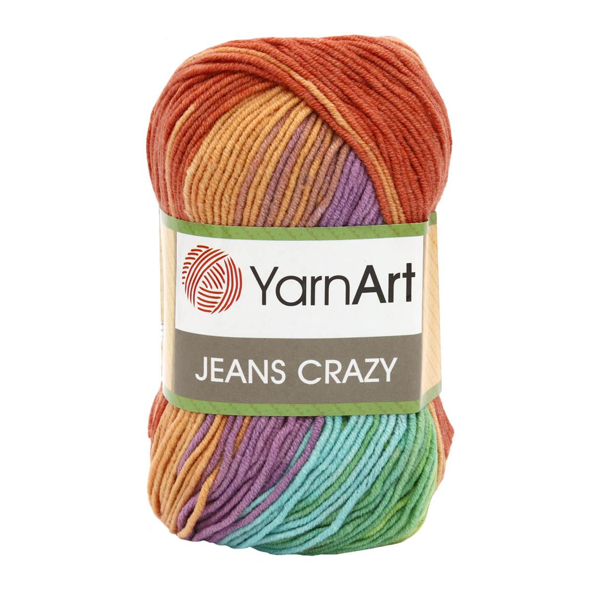 Пряжа YarnArt 'Jeans Crazy' 50гр 160м (55% хлопок, 45% полиакрил)