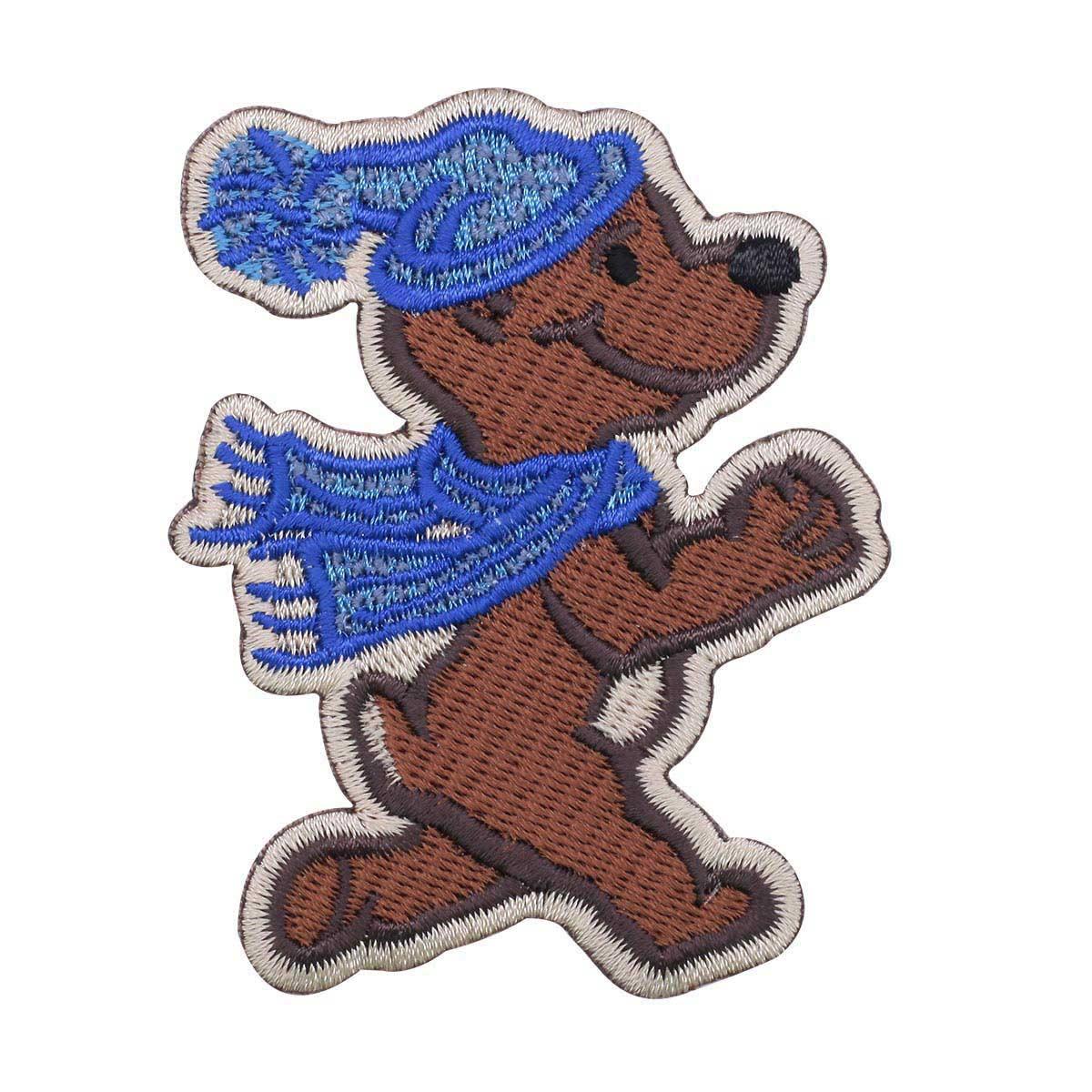 Термоаппликация 'Медвежонок в шарфике' 7,5*6см Hobby&Pro