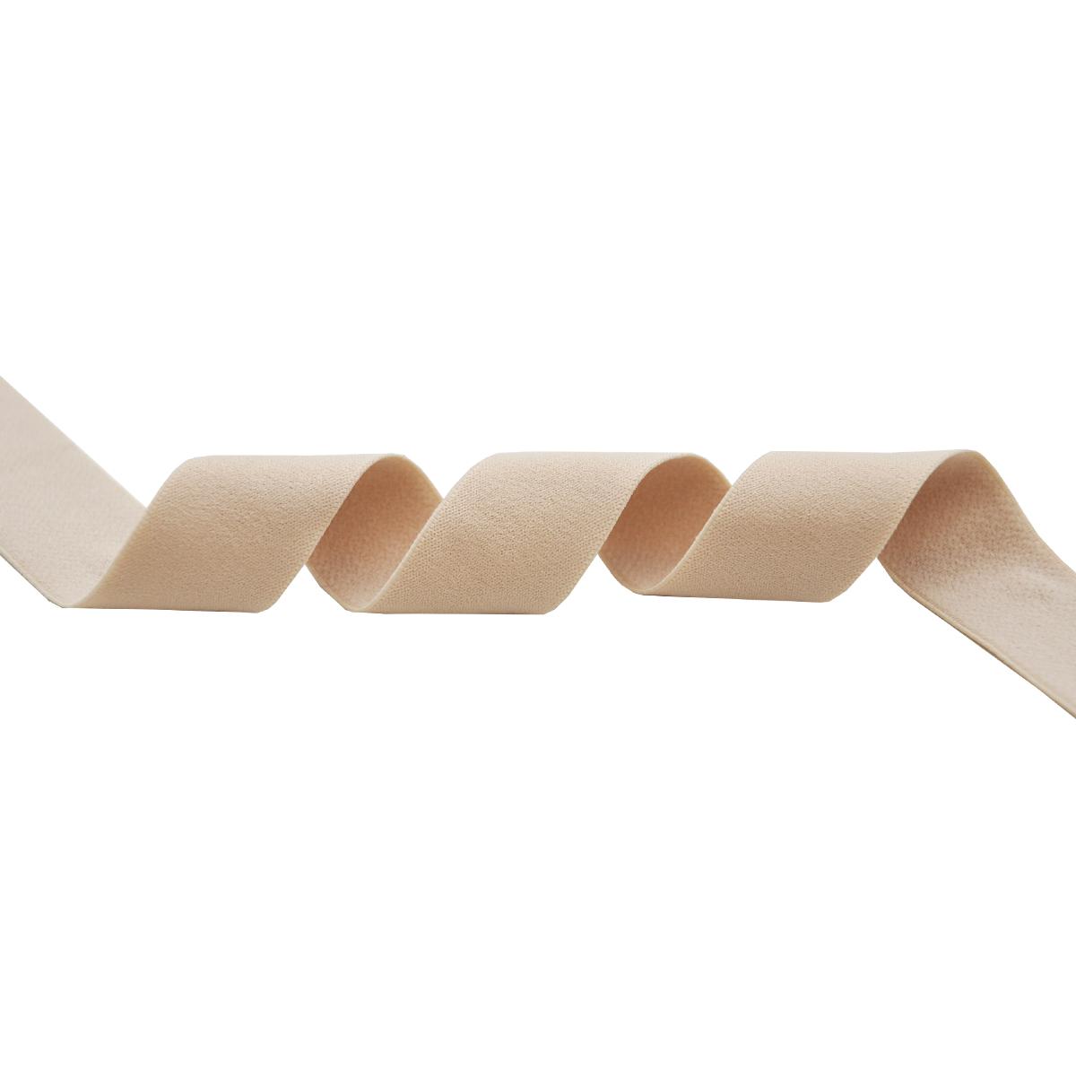 STD/96 эластичная отделочная матовая лента 24мм*25м, светло-бежевый