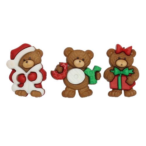 7497, Пуговицы-фигурки. Рождественские мишки Dress It