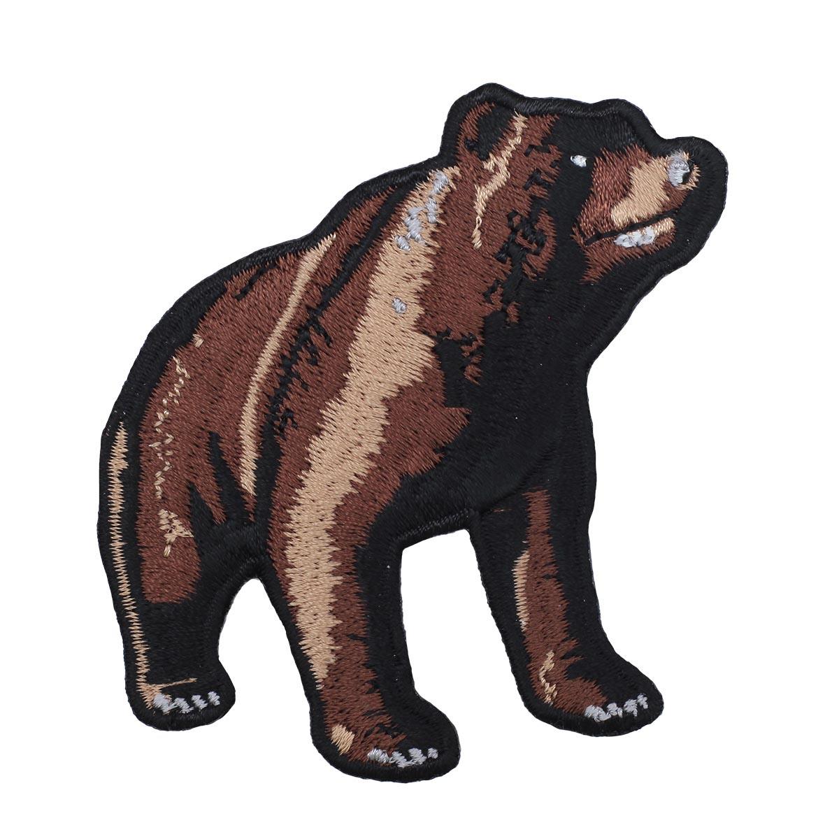 Термоаппликация 'Бурый медведь' 7,5*8см Hobby&Pro