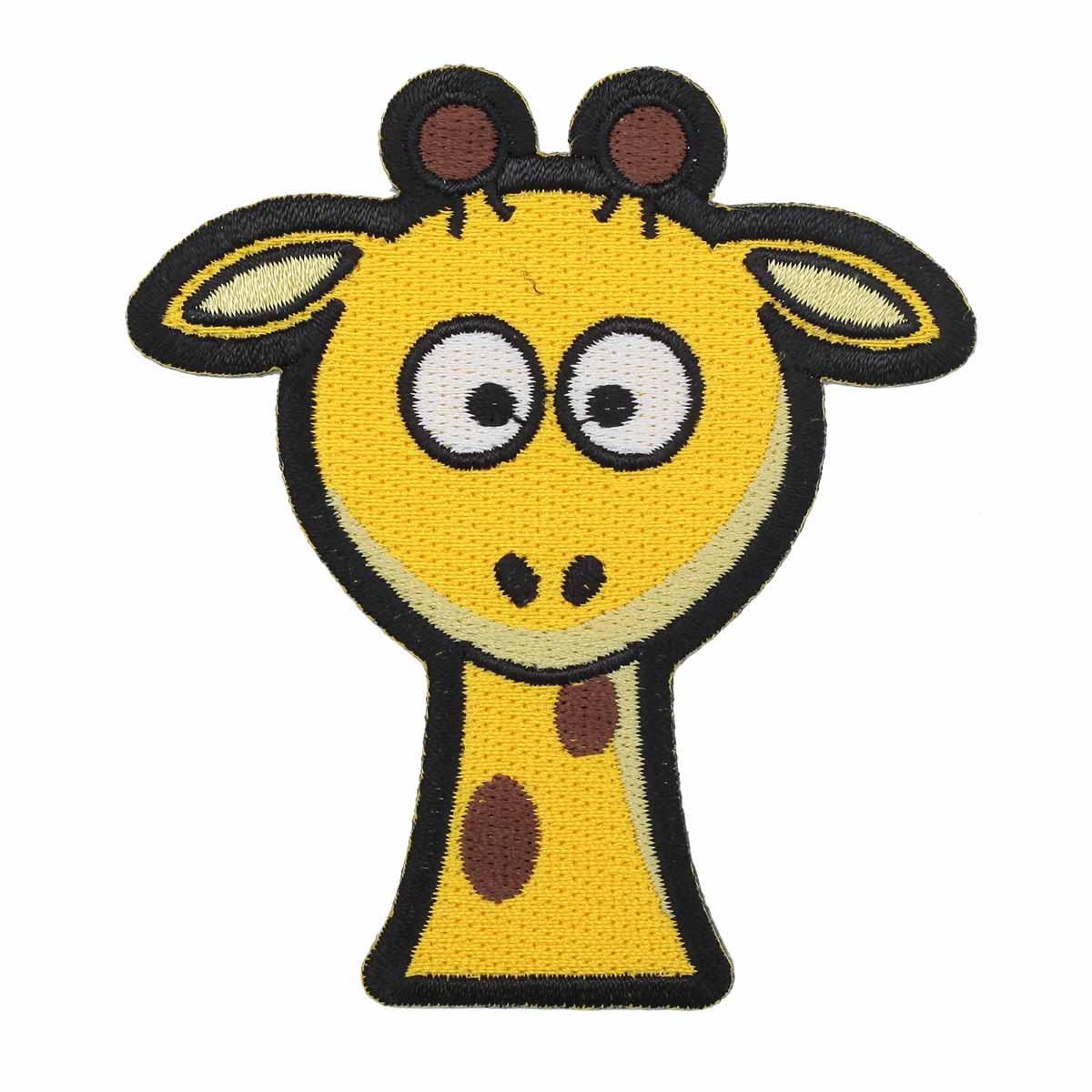 Термоаппликация 'Удивленный жираф' 7,5*8,5см Hobby&Pro