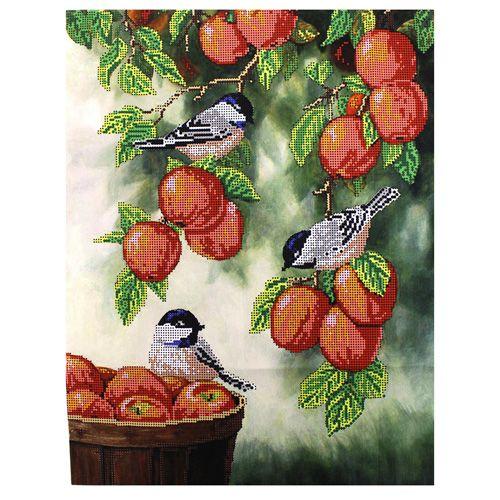 БН-3208 Набор для вышивания бисером Hobby&Pro 'Птички на яблоках' 32*40см