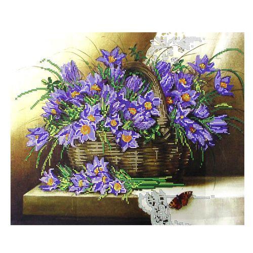БН-3209 Набор для вышивания бисером Hobby&Pro 'Синие цветы' 40*32см