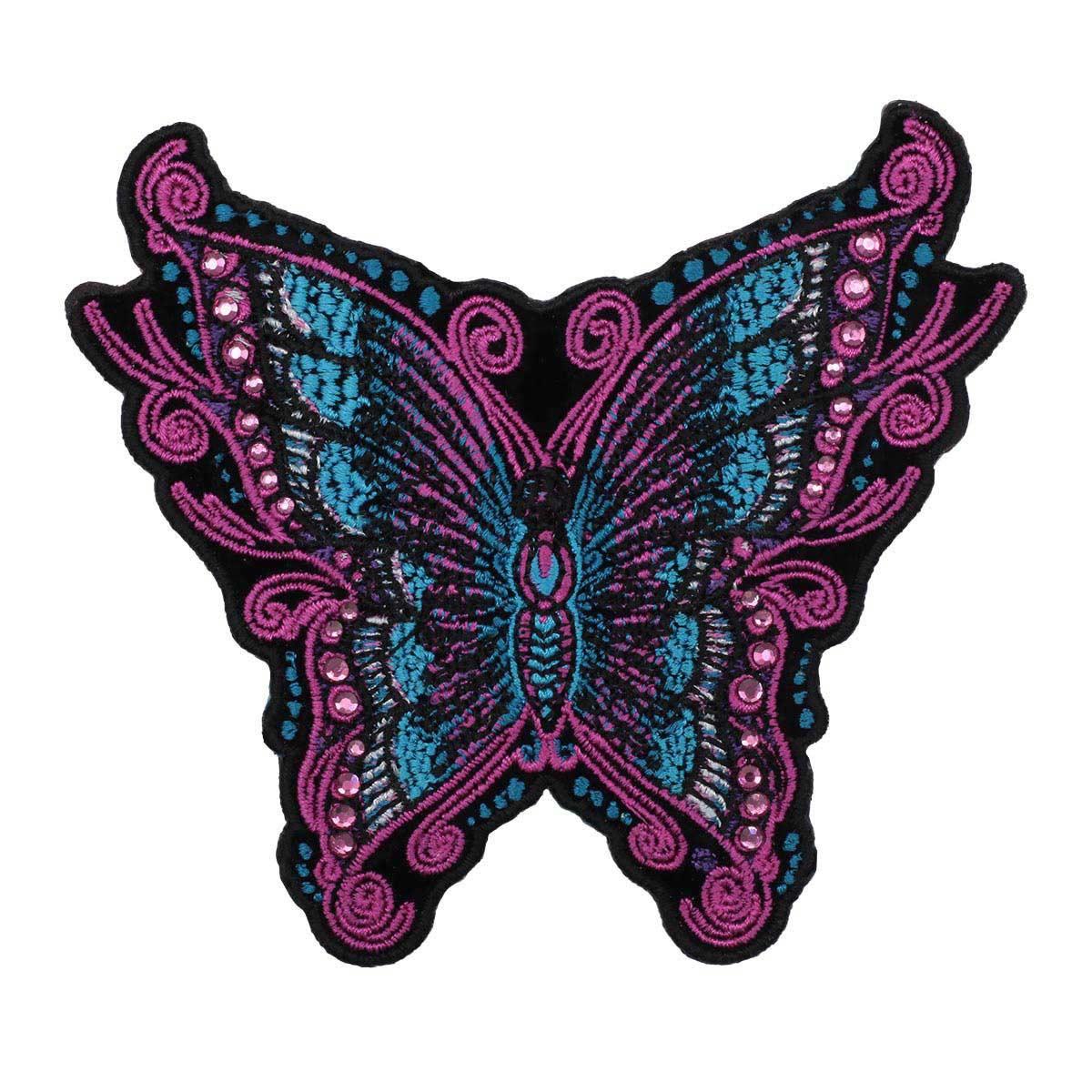 Термоаппликация 'Бабочка со стразами' 9,5*10,5см Hobby&Pro