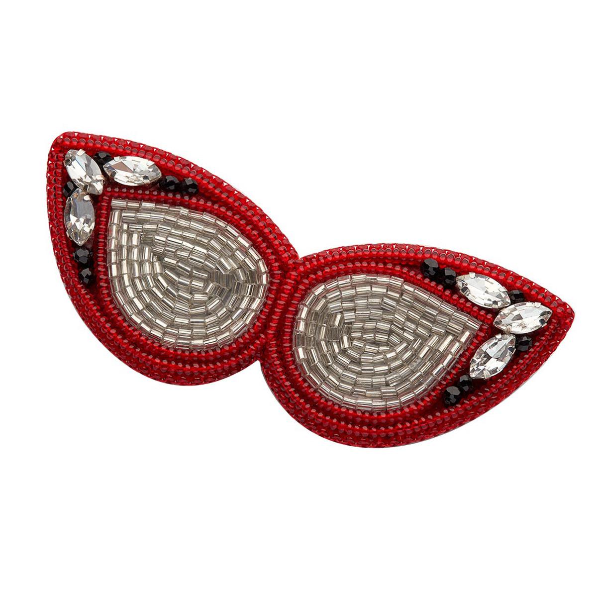 НБР-18006 Набор для вышивания бисером: Брошь 'Красные очки'.