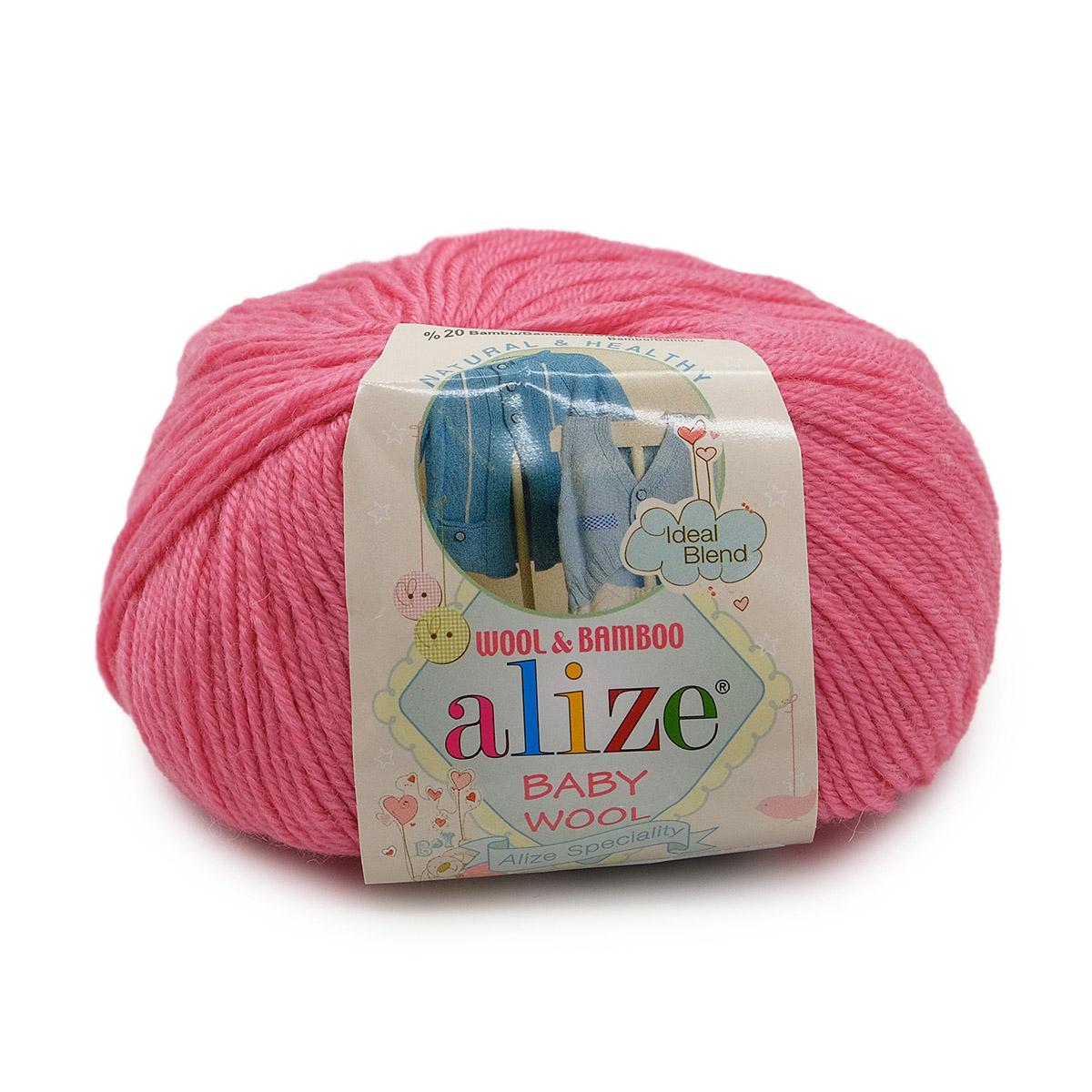 Пряжа ALIZE 'Baby wool' 50гр. 175м. (20%бамбук, 40%шерсть, 40%акрил)ТУ