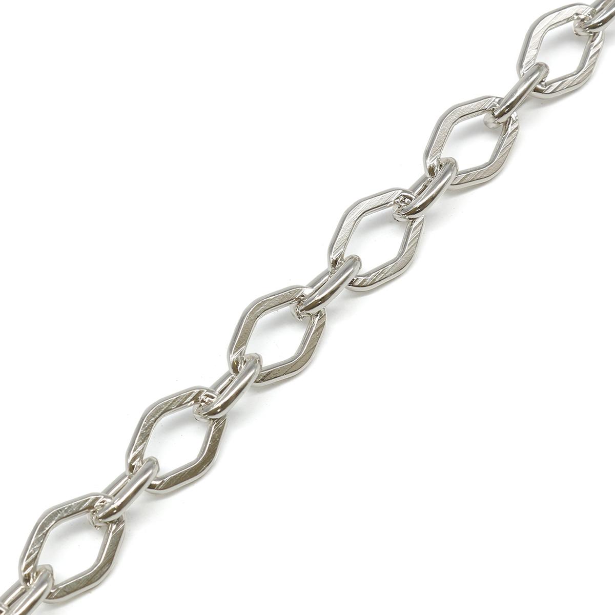 K16604 Цепь алюминиевая 12,8мм*9,5мм + 7,6мм*5,7мм, боб(10м)