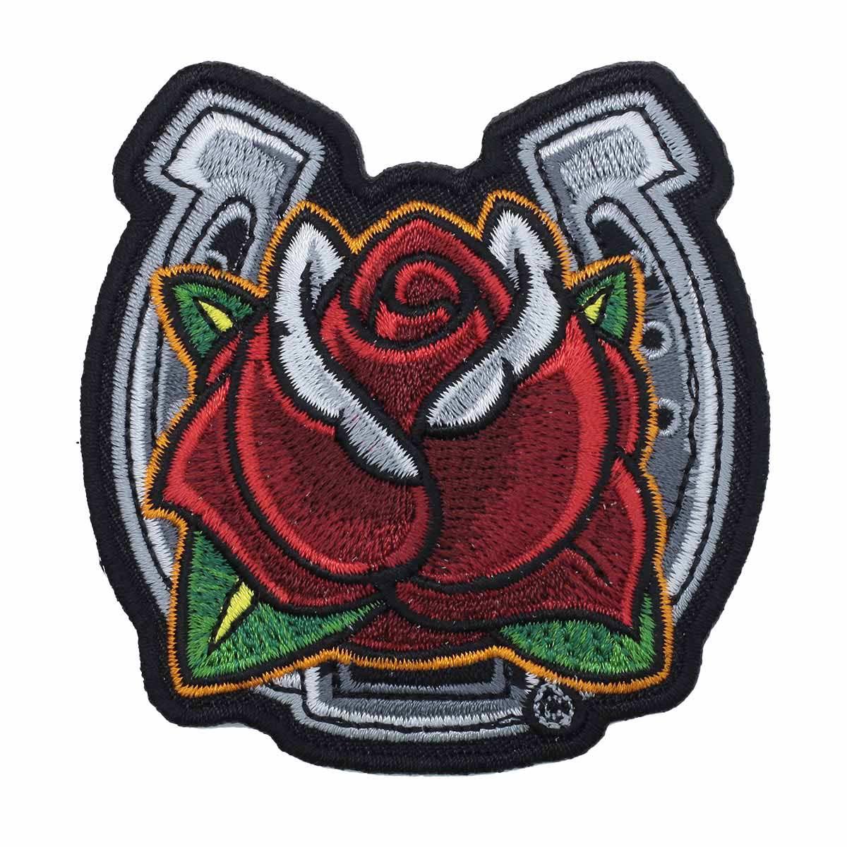 Термоаппликация 'Роза с подковой' 7,5*7,5см Hobby&Pro