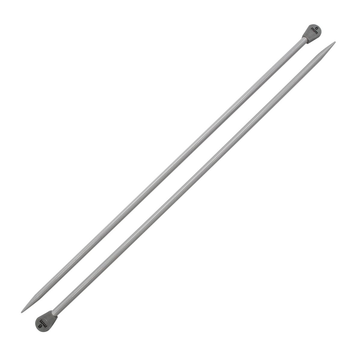 Спицы прямые алюминиевые с покрытием 940260/940206, 35 см, 6,0 мм, Hobby&Pro