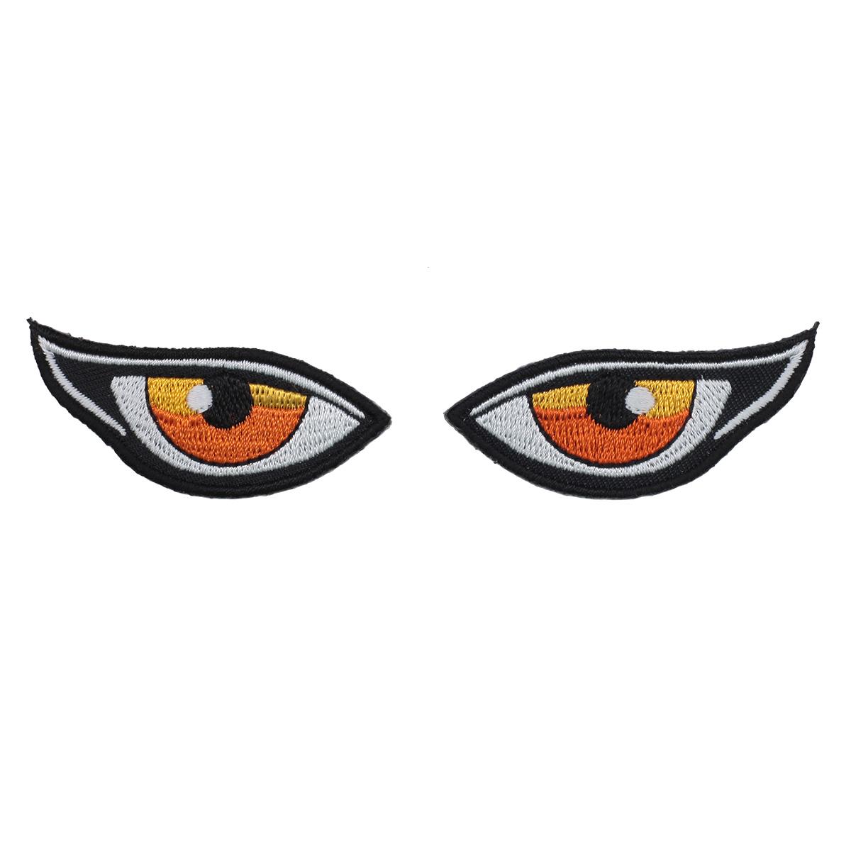 Термоаппликация 'Глаза желтые' 3*10см Hobby&Pro