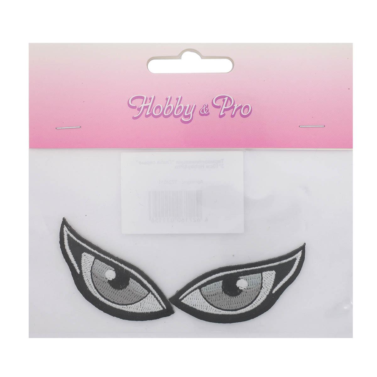 Термоаппликация 'Глаза серые' 3*10см Hobby&Pro