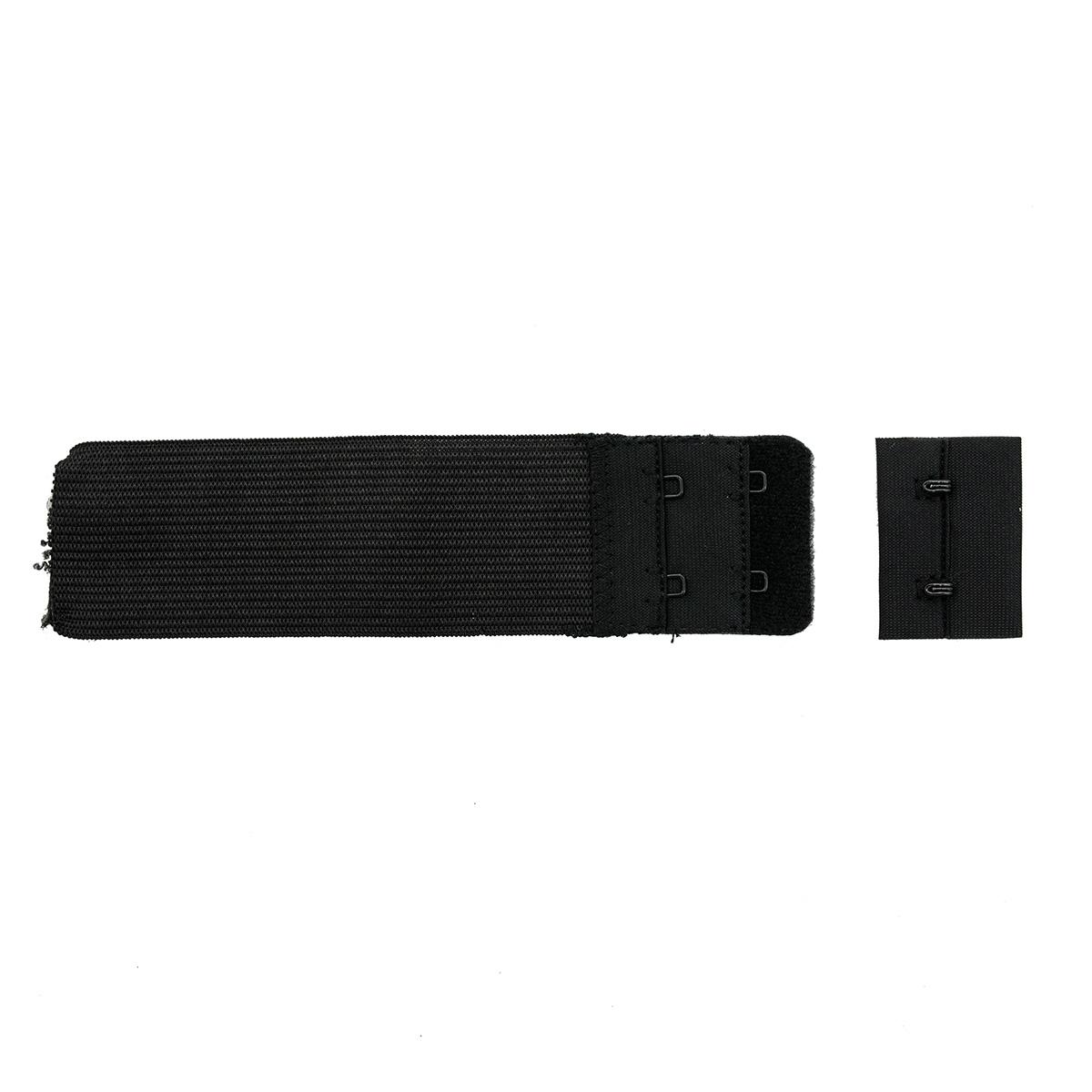 852101 Застежка для бюстгальтера, черный, 38 мм, 2 крючка, Hobby&Pro