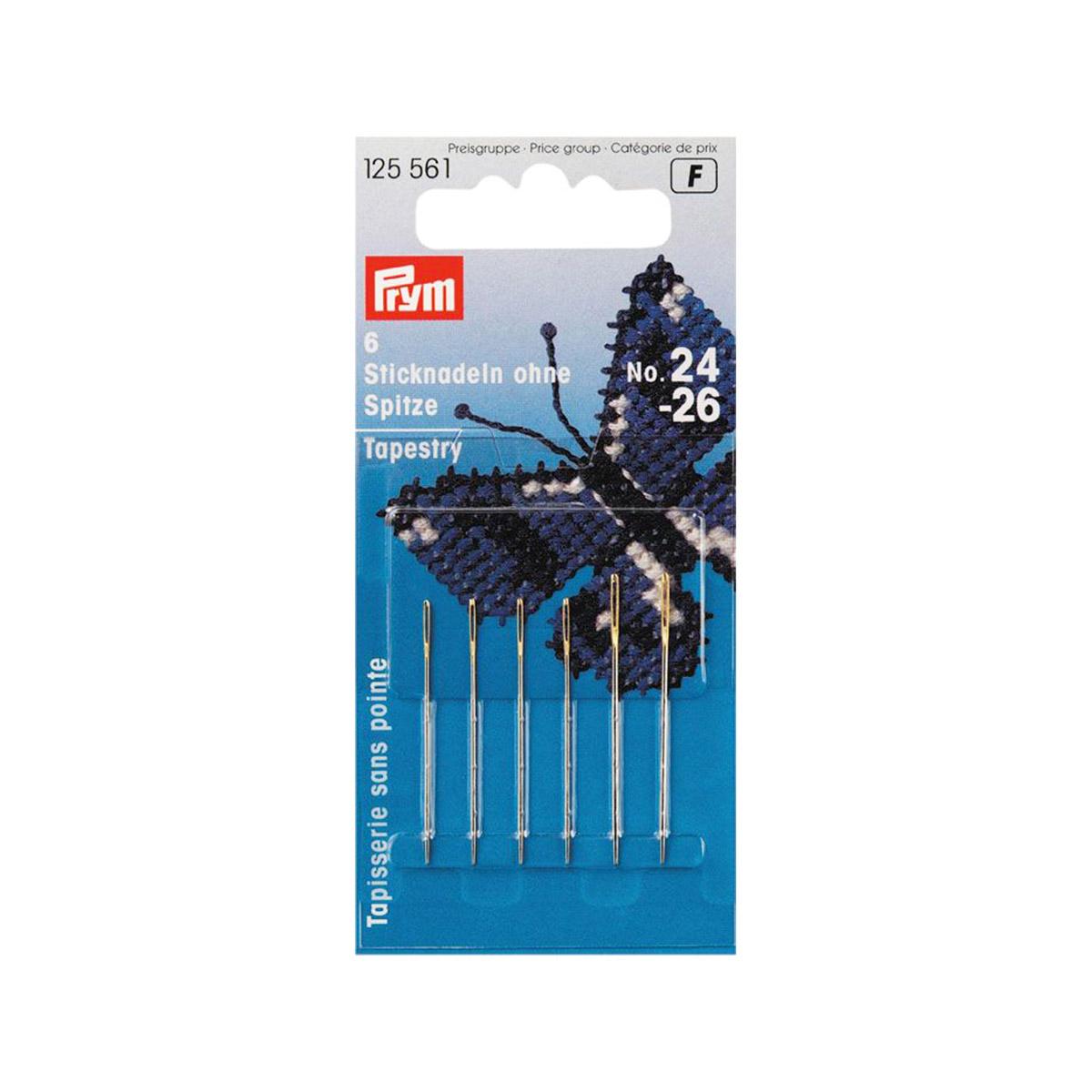 125561 Иглы для вышивки со скруглённым остриём (сталь) PRYM, №24/26, 6 шт. Prym