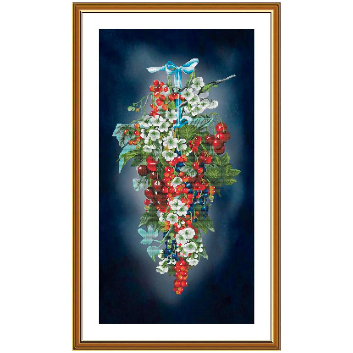 СР6240 Набор для вышивания 'Ягодный каскад'29 x55 см