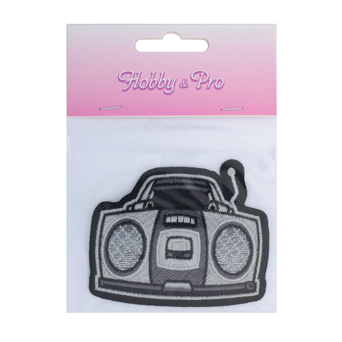 Термоаппликация 'Магнитофон' 6,5*7,5см Hobby&Pro