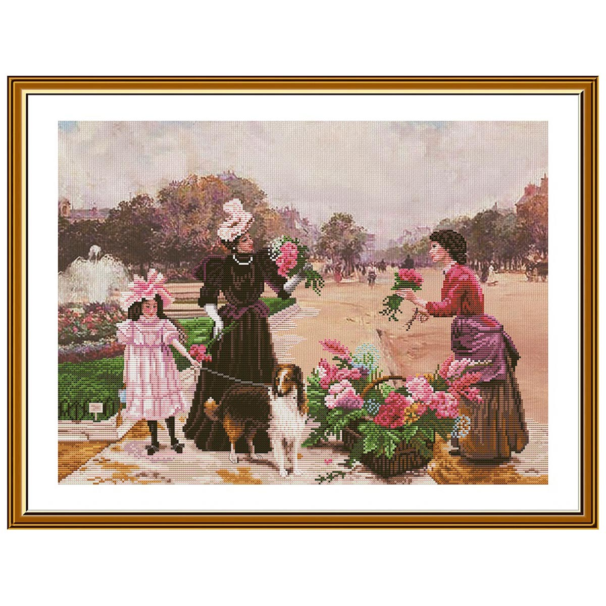 СВ3212 Набор для вышивания 'Семейная прогулка' 46*34 см