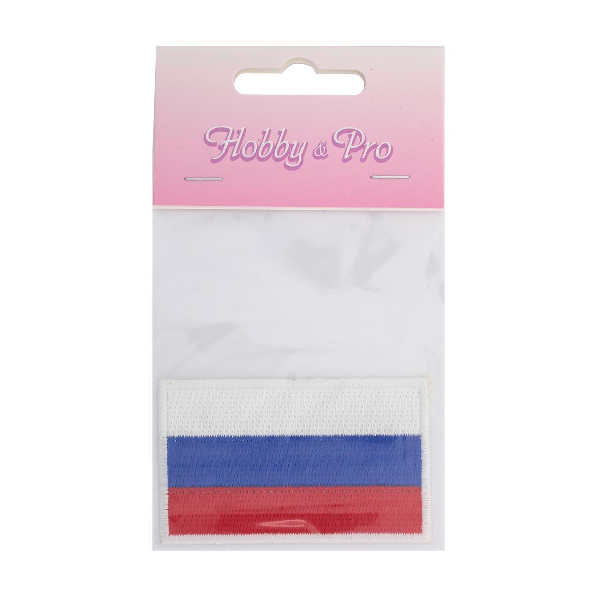 Термоаппликация 'Флаг России' 4*6,5см Hobby&Pro