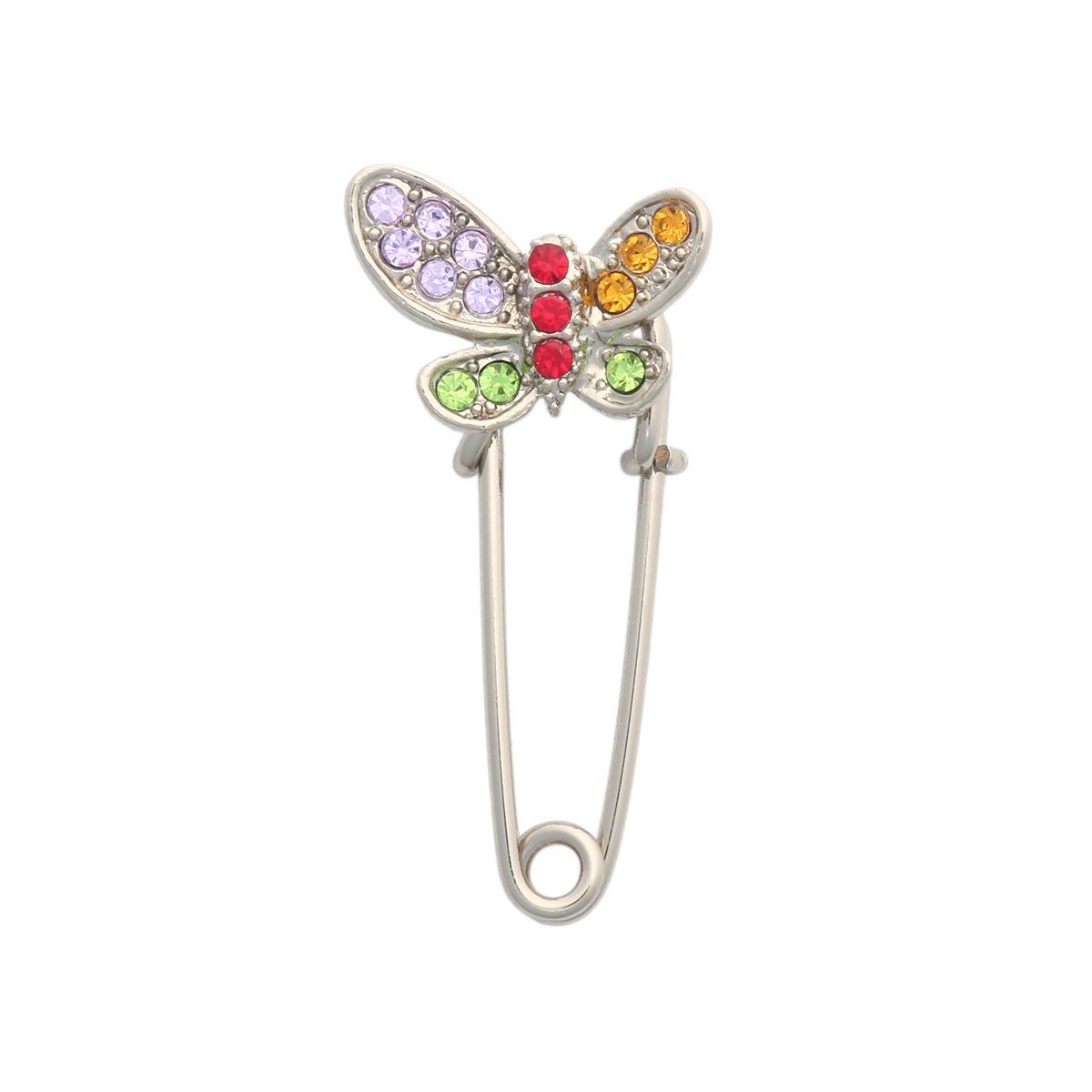 Брошь-булавка 220165, цвет #4 никель, Hobby&Pro