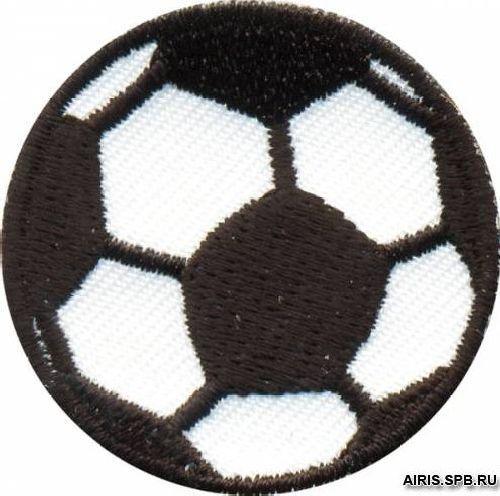 AD1299 Термоаппликация 'Футбольный мяч', d 3,5 см, Hobby&Pro