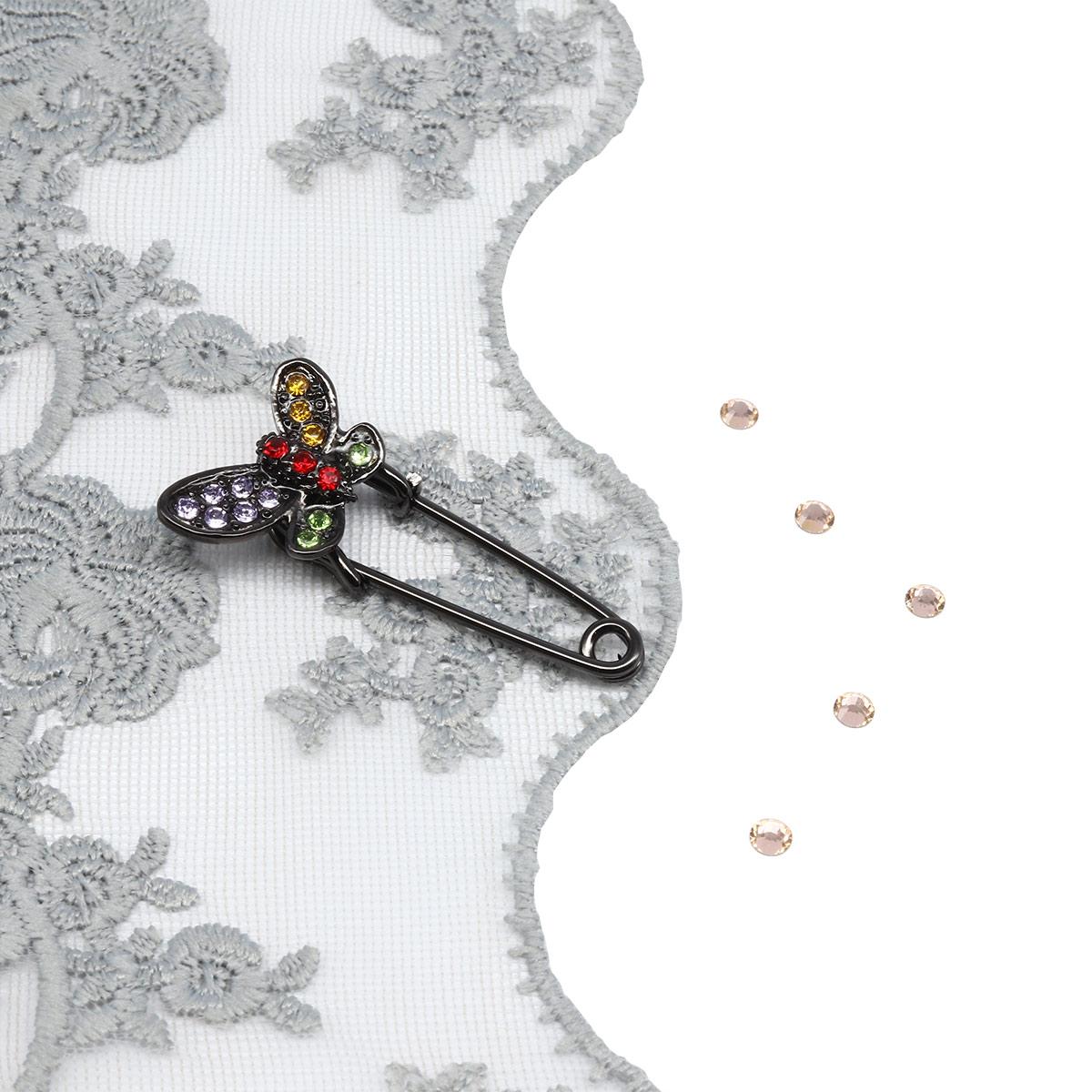 Брошь-булавка 220166, цвет #6 черный никель, Hobby&Pro