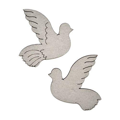 ВК-40 декоративный элемент 'Пара голубей ' 4*4см (2шт.) Астра