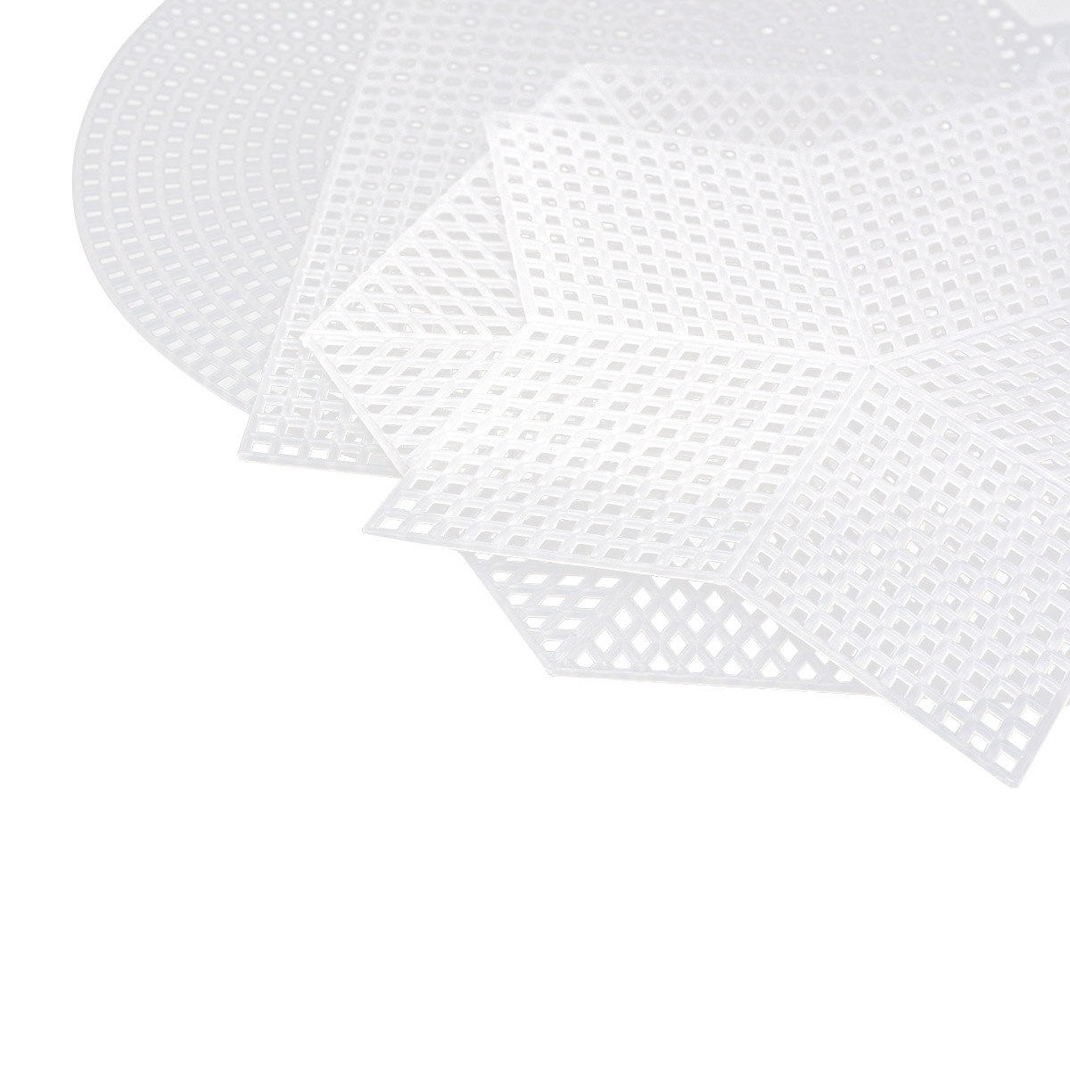 Набор фигурной пластиковой канвы, 12-17см, 8шт, Bestex