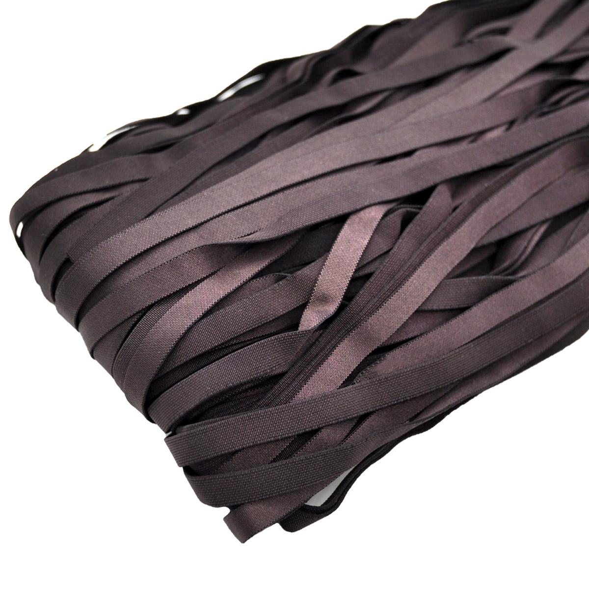 STP/32 эластичная отделочная глянцевая лента 8мм*50м, темный шоколад