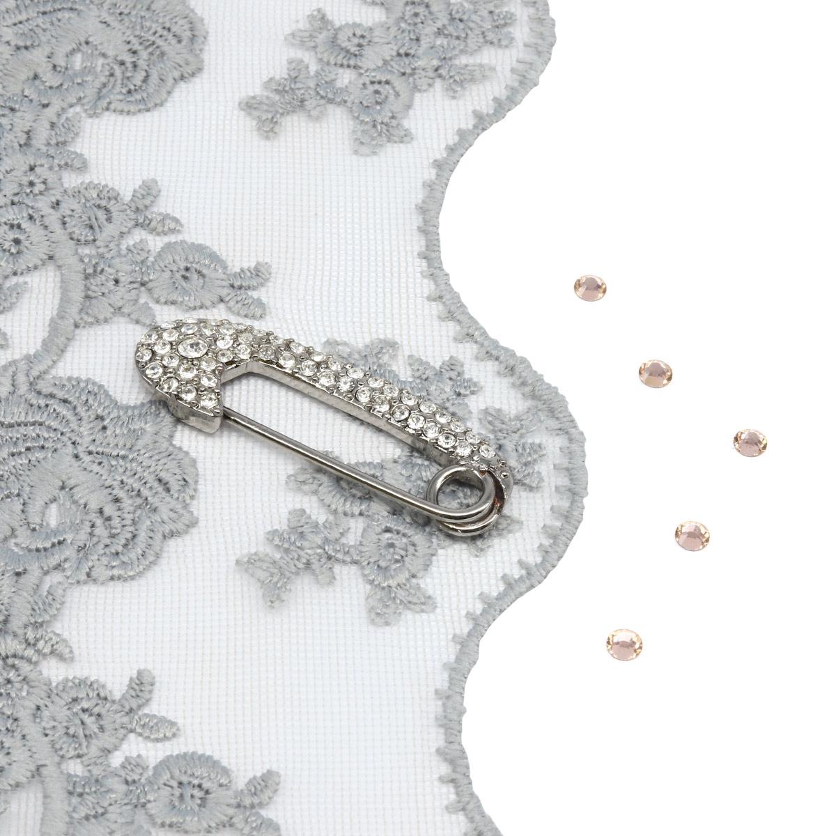 Брошь-булавка 220175, цвет #4 никель, Hobby&Pro