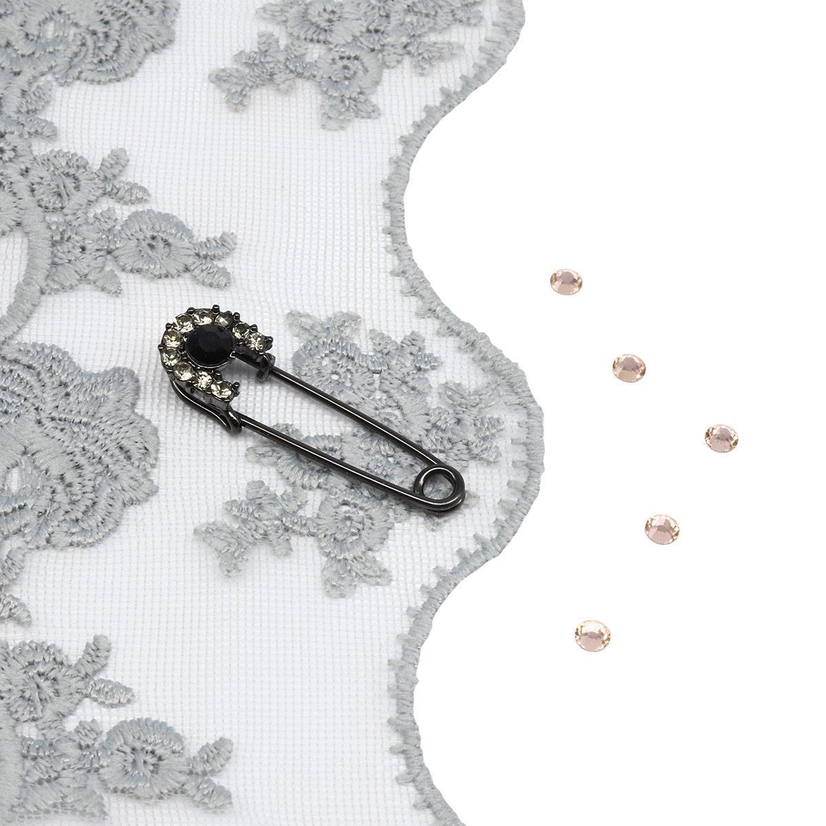 Брошь-булавка 220177, цвет #6 черный никель, Hobby&Pro