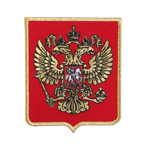 AD1428 Термоаппликация 'Герб России' (золото), 8*6,5 см, Hobby&Pro