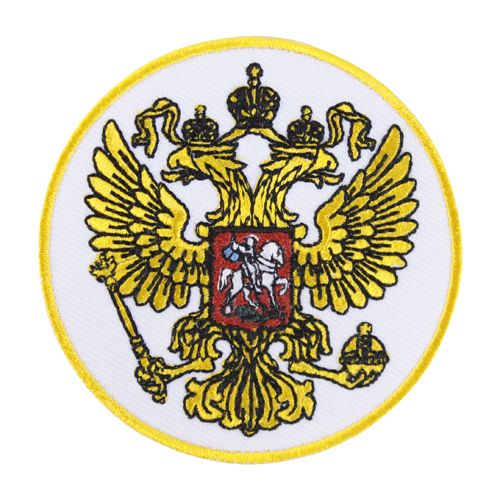 AD1430 Термоаппликация 'Герб России' (круглый), d 7 см, Hobby&Pro