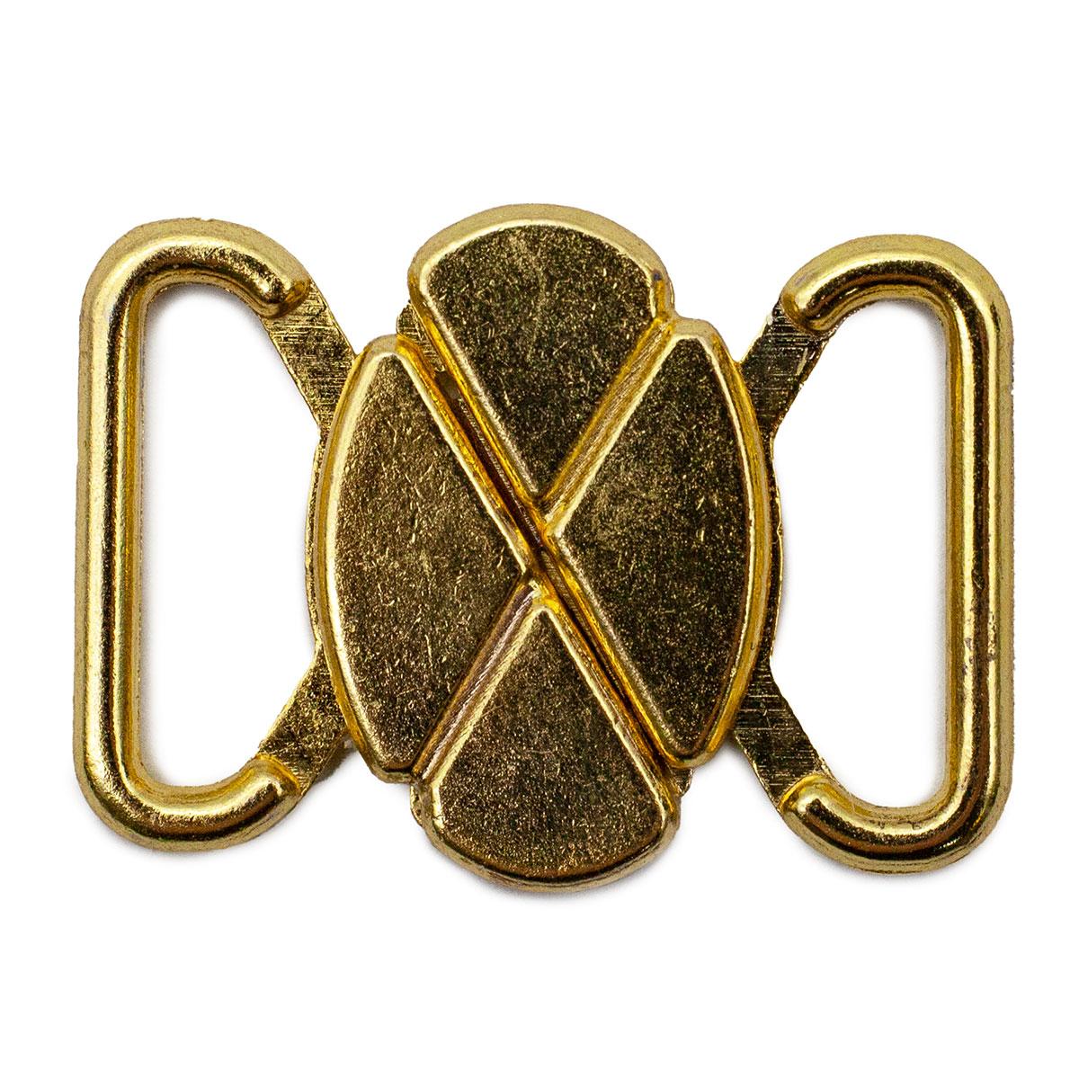 416121 Застежка для бикини металлическая, клевер, золото, 12 мм, Prym