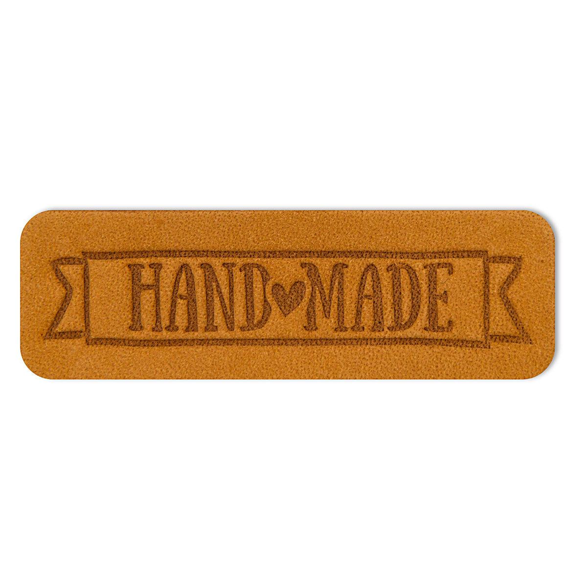 3 Термоаппликация из кожи Hand Made 5,65*1,8см, 100% кожа