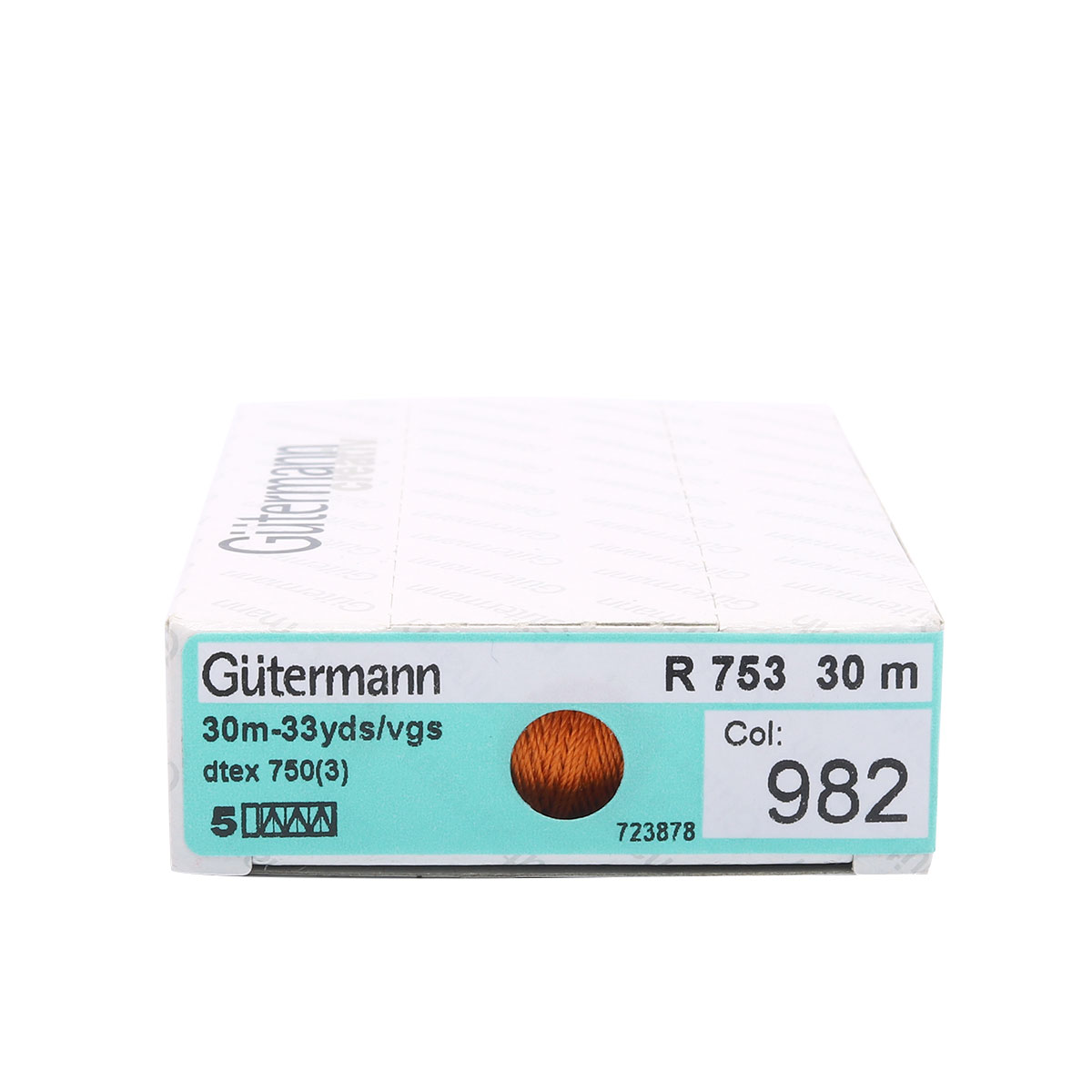 723878 Нить Silk R 753 для фасонных швов, 30м, 100% шелк Гутерманн