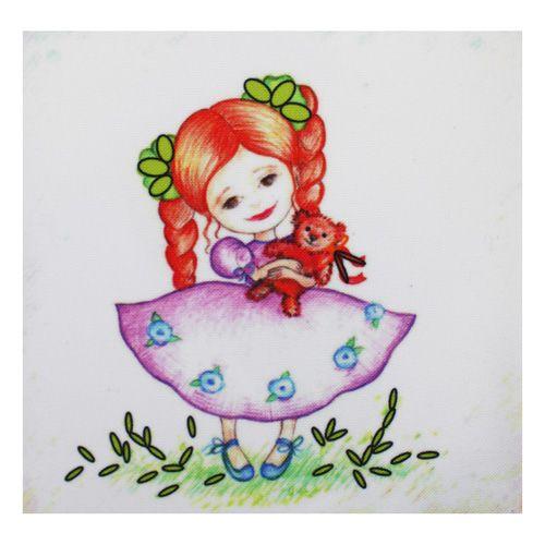 ВЛДС0005 Набор для вышивания лентами Woman-Hobby 'Серия Девочки №5', 13,5*13,5 см