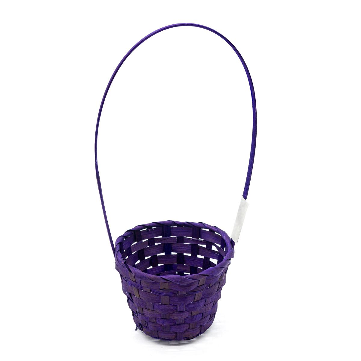 66943 Корзина плетеная бамбук D13*9.5/28см фиолетовый
