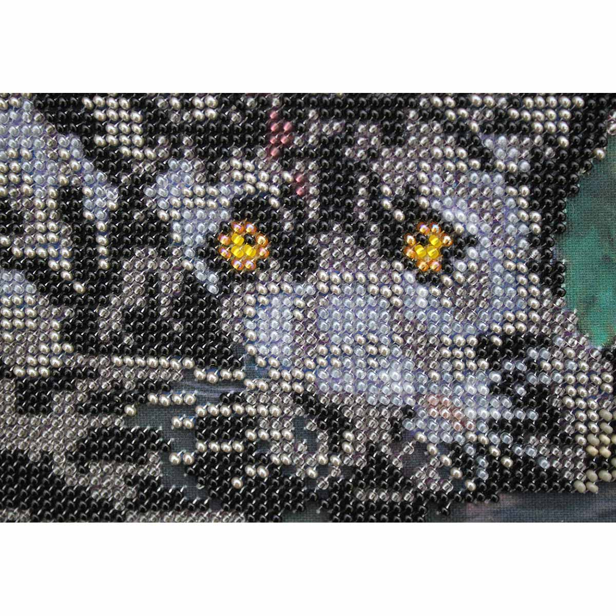 """Набор для вышивания бисером БН-3127 """"Пантера"""", 37х25 см, Hobby&Pro"""