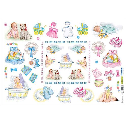 QSIPR144 Декупажная бумага рисовая 'Крещение ребенка', плотность 25 гр./кв.м, 35х50 см, Renkalik