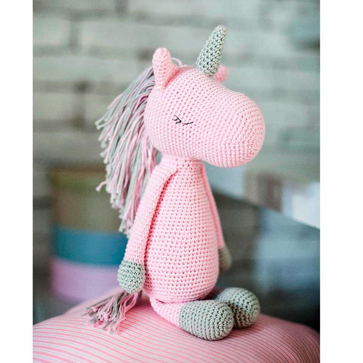 2724095 Амигуруми: Мягкая игрушка 'Единорожик Олби', набор для вязания, 10*4*14 см
