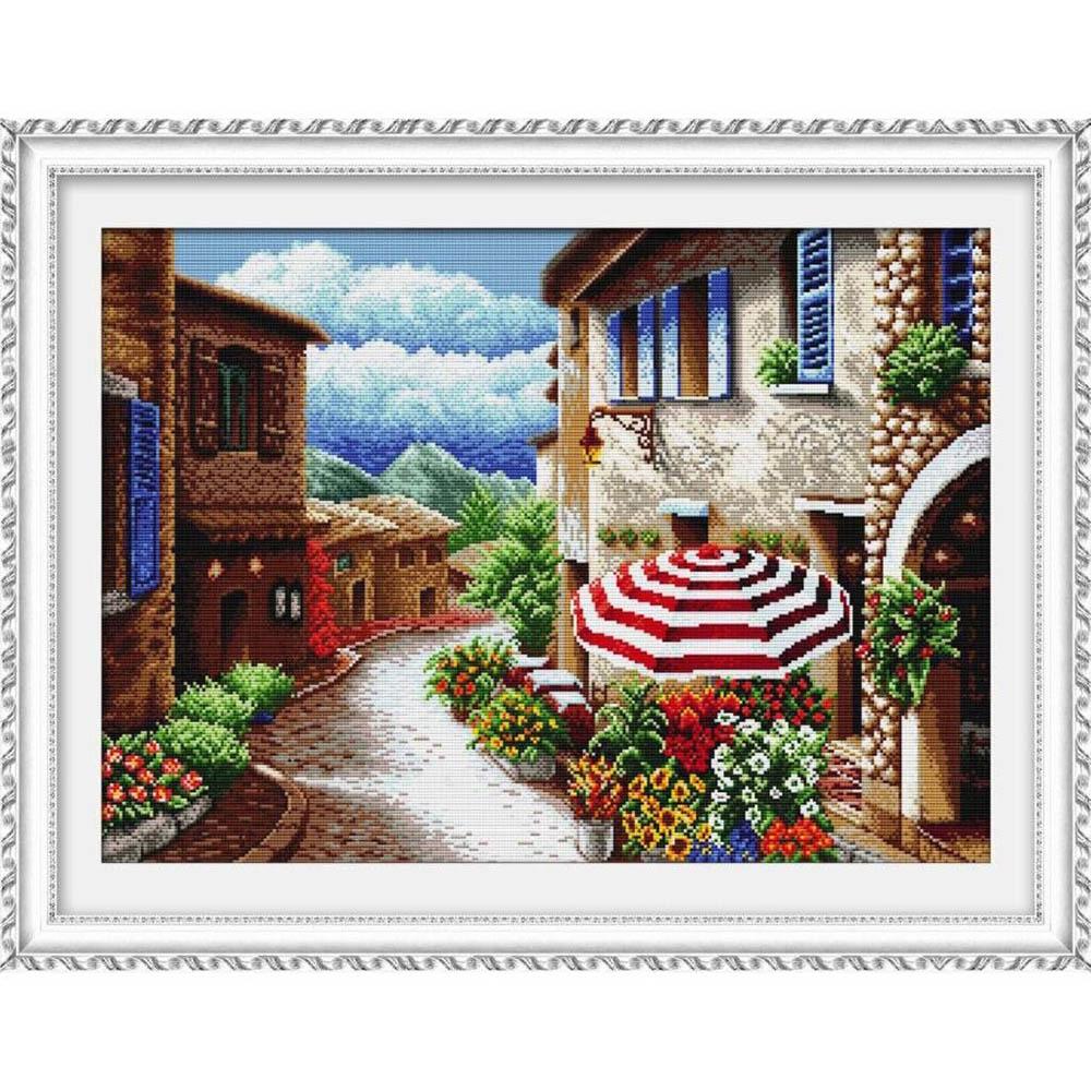 """Набор для вышивания крестом S-057 """"Солнечная улица"""", 52x37 см, Hobby&Pro"""