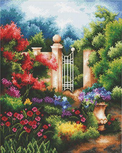 """Набор для вышивания крестом S-059 """"Таинственный сад"""", 29x36 см, Hobby&Pro"""