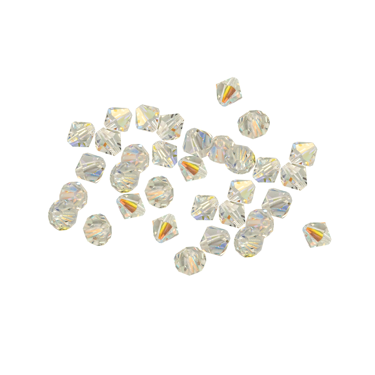 451-69-302 Бусины Биконус Crystal AB 8x8мм. 30 шт. Preciosa
