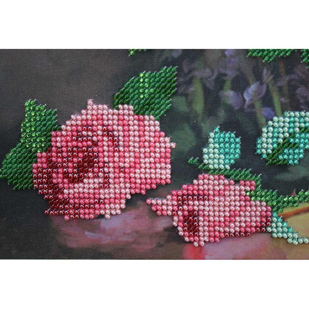 """Набор для вышивания бисером БН-3128 """"Букет роз"""", 30х25 см, Hobby&Pro"""