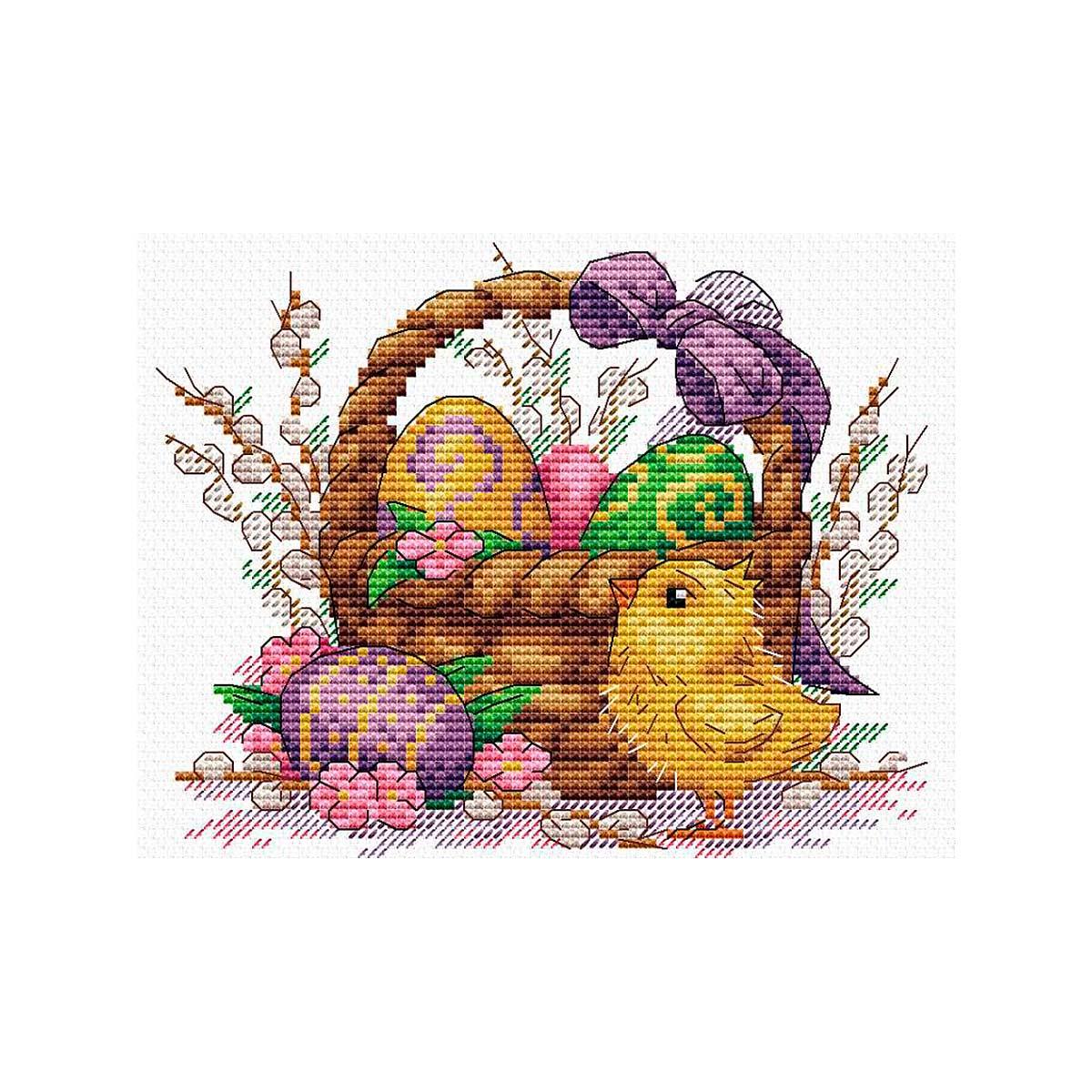 М-506 Набор для вышивания МП Студия 'Праздничное лукошко'17*20см